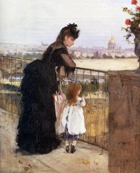 Berthe Morisot : Woman and Child on a Balcony