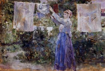 Berthe Morisot : Woman Hanging out the Wash