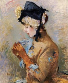 Berthe Morisot : Woman Wearing Gloves, The Parisienne