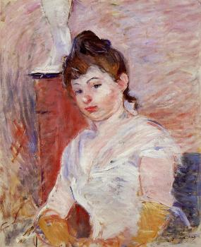 Berthe Morisot : Young Woman in White
