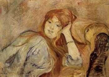 Berthe Morisot : Young Woman Leaning on Her Elbow