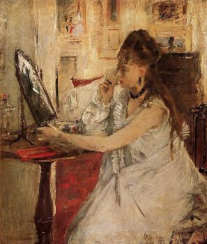 Berthe Morisot : Young Woman Powdering Her Face