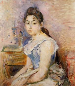 Berthe Morisot : Young Woman in a Blue Blouse