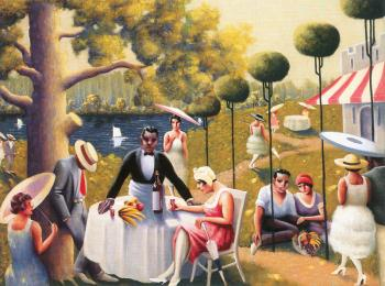 Archibald J Jr Motley : Lawn Party