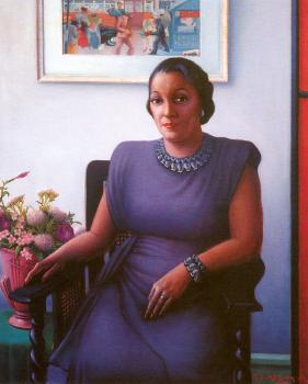 Archibald J Jr Motley : Portrait of a Cultured Lady