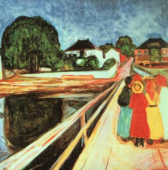 Edvard Munch : Girls on a Bridge