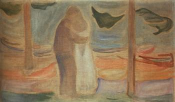 Edvard Munch : Couple on the Shore