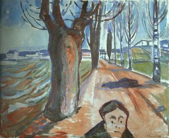Edvard Munch : The Murderer on the Lane