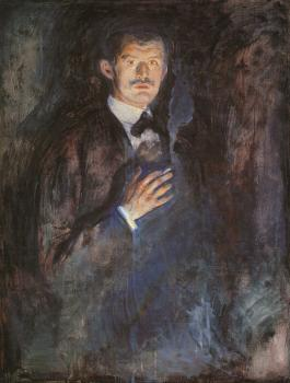 Edvard Munch : Self-Portrait with a Burning Cigarette