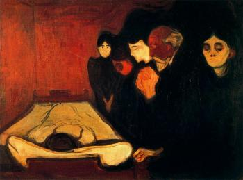 Edvard Munch : By the Deathbed