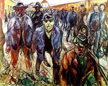 Edvard Munch : Workers on Their Way Home