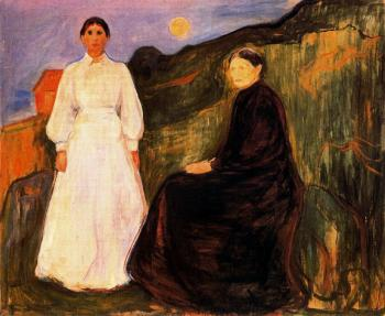 Edvard Munch : Mother and Daughter