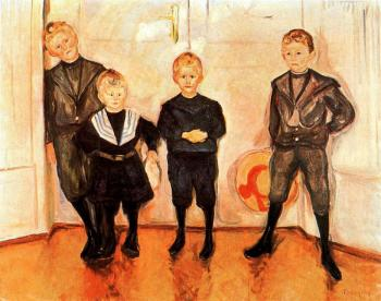Edvard Munch : The Four Sons of Dr. Linde