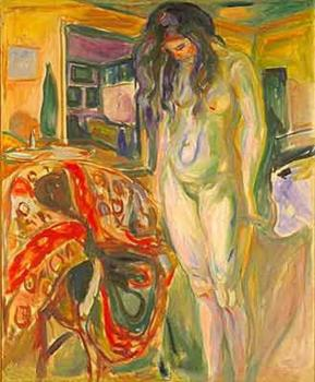 Edvard Munch : Model by the Wicker Chair