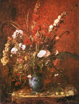 Mihaly Munkacsy : Large Flower-piece