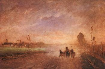 Mihaly Munkacsy : Dusty Road