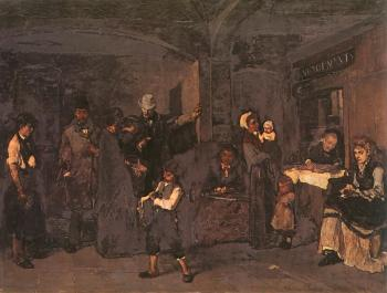 Mihaly Munkacsy : The Pawnbroker s Shop