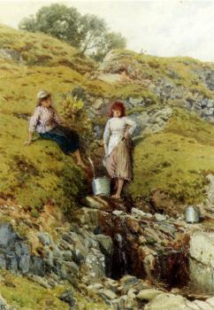 Myles Birket Foster : A Highland Burn Balmacara Near Kyle Of Lochalsh