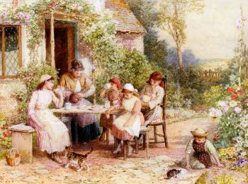 Myles Birket Foster : Tea Time