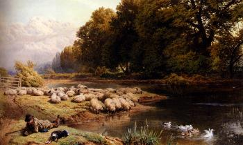 Myles Birket Foster : The Shepherds Rest