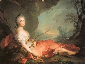Jean Marc Nattier : Marie-Adelaide of France as Diana