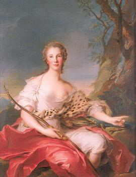 Jean Marc Nattier : Madame Bouret as Diana