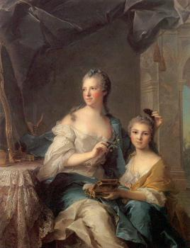 Jean Marc Nattier : Madame Marsollier and Her Daughter