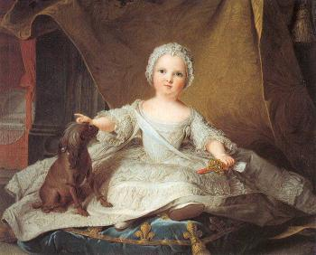 Jean Marc Nattier : Marie Zephyrine of France as a Baby
