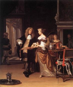 Eglon Van Der Neer : Elegant Couple in an Interior
