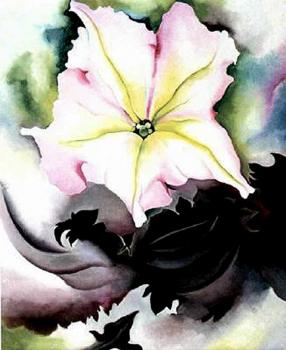 Georgia O Keeffe : Petunia and Coleus