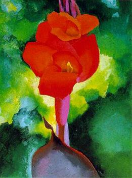 Georgia O Keeffe : Red Canna
