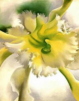 Georgia O Keeffe : Yellow Orchid