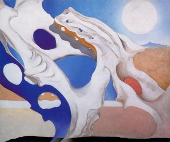 Georgia O Keeffe : Shadow with Pelvis and Moon
