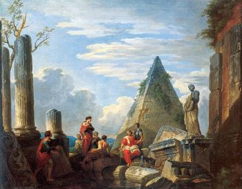 Giovanni Paolo Panini : Roman Ruins with Figures