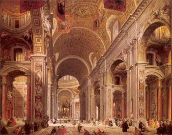 Giovanni Paolo Panini : Interior of Saint Peters, Rome