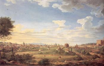 Giovanni Paolo Panini : View of Rome from Mt. Mario, In the Southeast