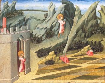 Giovanni Di Paolo : St. John the Baptist Retiring to the Desert