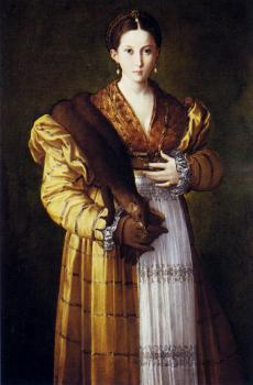 Parmigianino : Portrait Of A Young Woman