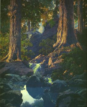 Maxfield Parrish : The Glen