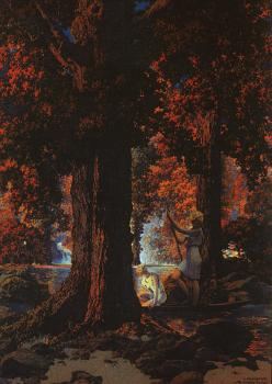 Maxfield Parrish : Golden Hours Autumn