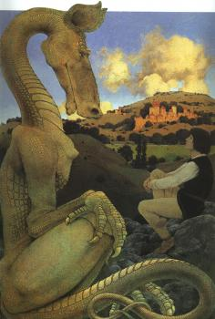 Maxfield Parrish : The Reluctant Dragon