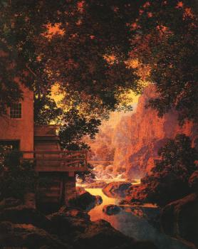 Maxfield Parrish : The Old Glen Mill