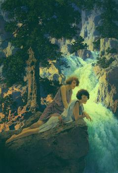 Maxfield Parrish : Waterfall