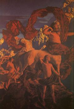 Maxfield Parrish : Jason and his Teacher