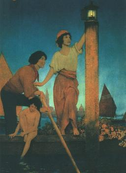 Maxfield Parrish : Venetian Lamplighter