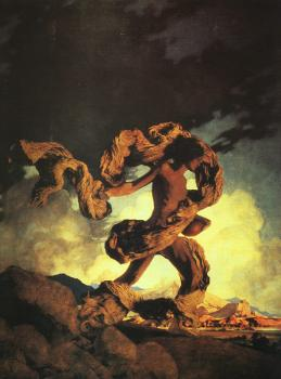 Maxfield Parrish : Cadmus Sowing the Dragons Teeth