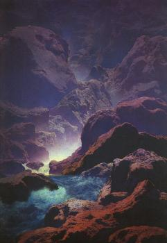 Maxfield Parrish : Moonlight