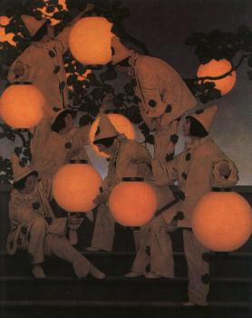 Maxfield Parrish : The Lantern Bearers