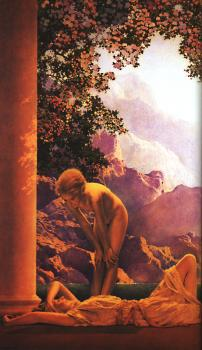 Maxfield Parrish : Daybreak, detail