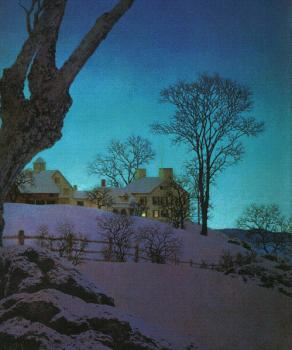Maxfield Parrish : Christmas Morning